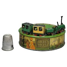 Vintage Karl Bub Miniature Clockwork Train Set 'Der Adler' Wind Up Toy 100 Year Anniversary Circa 1935