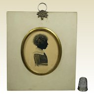 19th Century Regency Portrait Silhouette Of A Child English Circa 1815 GORGEOUS