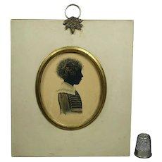 Georgian Silhouette Of A Child English Circa 1815 GORGEOUS Frame