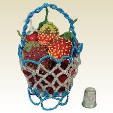 19th Century Basket Strawberry Emeries X 6 Circa 1890