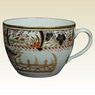 19th Century Coalport Porcelain Tea Cup Imari Bute Shape English Regency Circa 1810