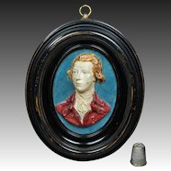 Antique William Pitt The Younger Portrait Plaque After Flaxman Circa 1790 Georgian