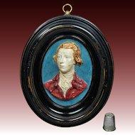 Antique William Pitt The Younger Portrait Plaque After Flaxman Circa 1790 Georgian