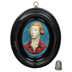 Antique Georgian Portrait Plaque William Pitt The Younger After Flaxman Circa 1790