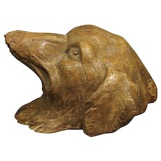 Antique 19th Century Wooden Borzoi Dog Carving Circa 1830 Georgian