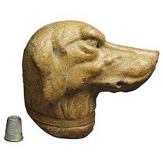 Antique 19th Century Carved Oak Wood Dog Figure English Fox Hound Circa 1850