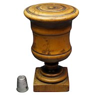19th Century Georgian Treen Spice Container Urn Laburnum Wood Scottish Circa 1810