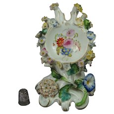 19th Century Pocket Watch Holder Coalbrookdale Style Staffordshire Pottery Circa 1835 AF