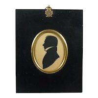 English Regency Silhouette Gentleman Edward Foster Frame Circa 1817