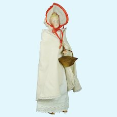 "Antique German 13"" Parian Bisque Shoulder Head Doll by Alt, Beck & Gottschalck"
