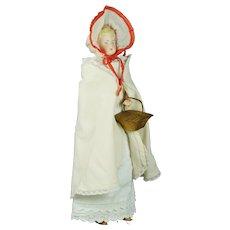 """Antique German 13"""" Parian Bisque Shoulder Head Doll by Alt, Beck & Gottschalck"""