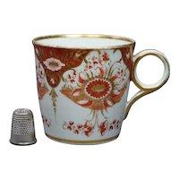Georgian Chamberlain Worcester Coffee Cup Gilt Orange Circa 1815