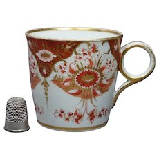 Georgian Chamberlain Worcester Coffee Cup Gilt Orange Circa 1815
