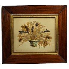 19th Century Georgian Miniature Seaweed Picture Botanical English Craft Circa 1820
