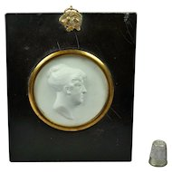 Antique Georgian John Henning Portrait Intaglio Relief Circa 1810, John Smeaton Engineer Connection