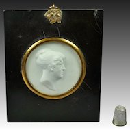 19th Century Intaglio Cameo Glass Paste Relief Mrs Dixon By Scottish Artist John Henning 1810 John Smeaton Engineer Connection