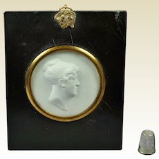 Antique Georgian John Henning Portrait Intaglio Relief Circa 1810, John Smeaton Engineer Connection