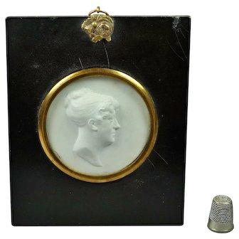 19th Century Intaglio Cameo Glass Paste Relief Mrs Dixon By Scottish Artist John Henning 1810 John Smeaton Engineer Connection