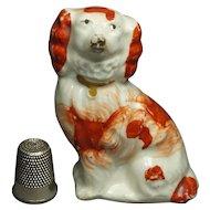19th Century Miniature Staffordshire Spaniel Dog Circa 1845 So Sweet