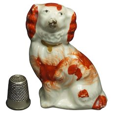 19th Century Miniature Staffordshire Spaniel Dog Circa 1845 So Sweet