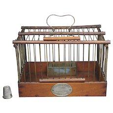 Antique French Bird Cage By L Fanton Paris Circa 1917