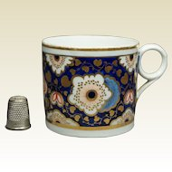 19th Century Coffee Can Cup English New Hall Porcelain Floral Pattern Georgian Circa 1810