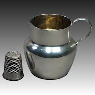 Victorian English Miniature Sterling Silver Jug Pitcher Great For Doll By William Wheatcroft Harrison and Co