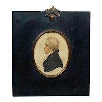 Antique Regency Portrait Miniature Signed A R Burt, Lt Col Robert Anstey, Bath Circa 1812