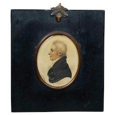 Antique Regency Portrait Miniature Signed A R Burt, Lt Col Robert Anstey, Bath Circa 1812