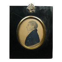 Georgian J H Gillespie Portrait Miniature with TRADE LABEL, Gentleman James Lee Dated 1812