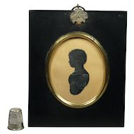 Georgian Silhouette Baby Boy Anthony Orr, Cartmel, Lancashire, England Circa 1828