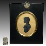 19th Century Georgian Portrait Silhouette Baby Boy Anthony Orr, Cartmel, Lancashire, England Circa 1828
