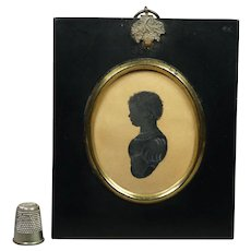 Georgian Silhouette Baby Boy Anthony Orr, Cartmel, Lancashire, England Circa 1828
