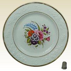 Antique Regency Porcelain Dessert Plate Hand Painted Floral English Circa 1820