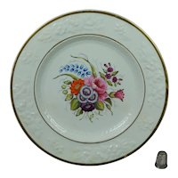 19th Century Regency Porcelain Plate, Hand Painted Floral Roses, English Circa 1820