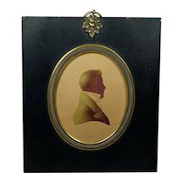 19th Century Edward Foster Silhouette Gentleman Signed And Dated 1823 Georgian