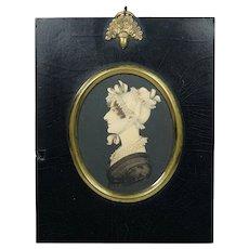 19th Century Rare J H Gillespie Portrait Miniature Regency Lady Circa 1820