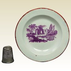 19th Century Miniature Doll Plate Toy Mulberry Transferware Pearlware Circa 1835 Georgian