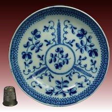 19th Century Blue and White Transferware Pearlware Small Plate by John Dawson, Sunderland,  Regency Circa 1820