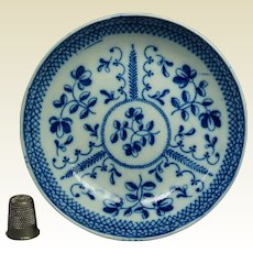 19th Century Blue and White Transferware Pearlware Small Plate by John Dawson, Sunderland,  Regency Circa 1820