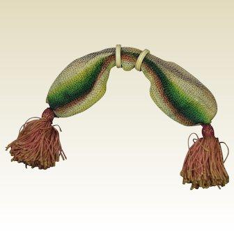 Antique Early 19th Century Knitted Purse Georgian Circa 1820