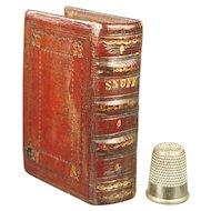 19th Century Miniature Georgian Red Leather Snuff Book Secret Storage Safe Box Circa 1830