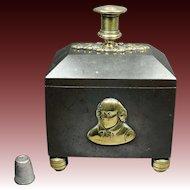 Early 19th Century Coalbrookdale Tobacco Box Sir Walter Raleigh Cast Iron Georgian Circa 1815