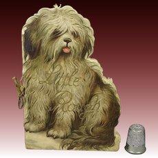 Rare Victorian Ernest Nister Miniature Dog Shape Book Little Rough Circa 1880 Childrens Book