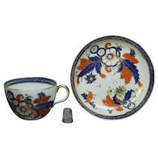 19th Century Ridgway Porcelain Tea Cup And Saucer Imari Pattern Circa 1808 Georgian