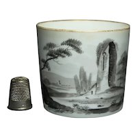 19th Century Regency Era Minton English Porcelain Coffee Can Cup En Grisaille Circa 1810 AF