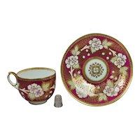 19th Century Sir James Duke Cup And Saucer Porcelain Tea Cup And Saucer Circa 1862