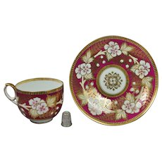 19th Century Sir James Duke Cup And Saucer Porcelain Tea Cup And Saucer Circa 1862