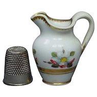 Georgian Miniature Doll Jug Pitcher Spode Porcelain Pattern 3157 Circa 1820 AF