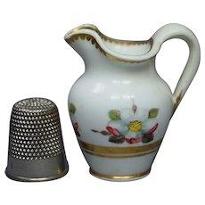 Circa 1820 English Miniature Doll Jug Pitcher Spode Porcelain Pattern 3157 Regency AF